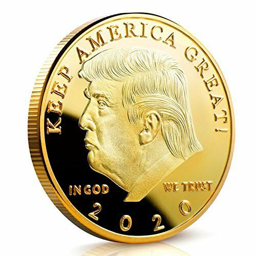 2020 Donald Trump Keep America Great Coin - Gold Plated Challenge Coin - Collector's Edition