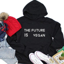 Load image into Gallery viewer, The Future is Vegan Hoodie