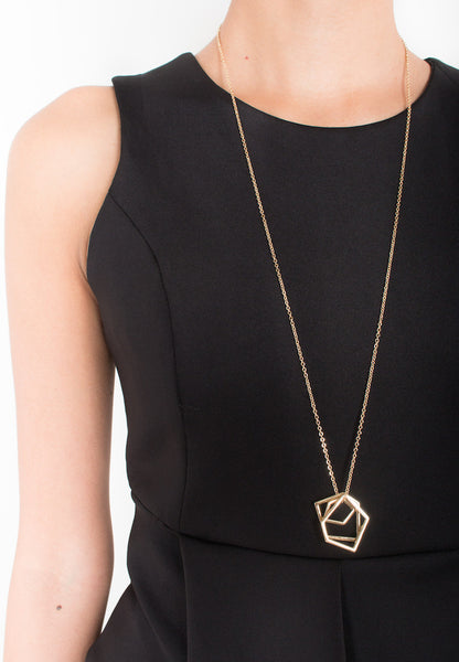 Triple Pedant Necklace in Gold