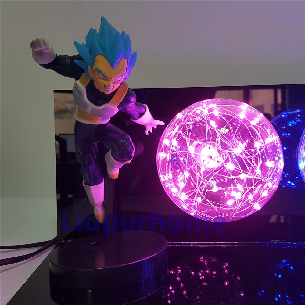 Dragon Ball Super: Goku y Vegeta Lámpara 3D