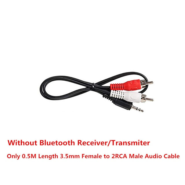 VIKEFON Bluetooth 5,0 receptor de Audio transmisor Mini estéreo Bluetooth AUX RCA USB 3,5mm Jack para TV Kit de coche adaptador inalámbrico