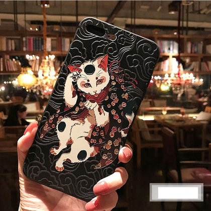 Funda de Gato en 3D para iPhone 7 Case 8 7 plus iPhone 6 6S Plus XS MAX XR 11 case