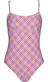 TYR Ladies Hidden Support One Piece Plaid