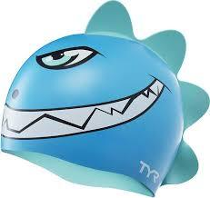 TYR Dino Destroyer Silicone Cap - Junior