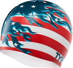 TYR Blazing Patriot Silicone Cap