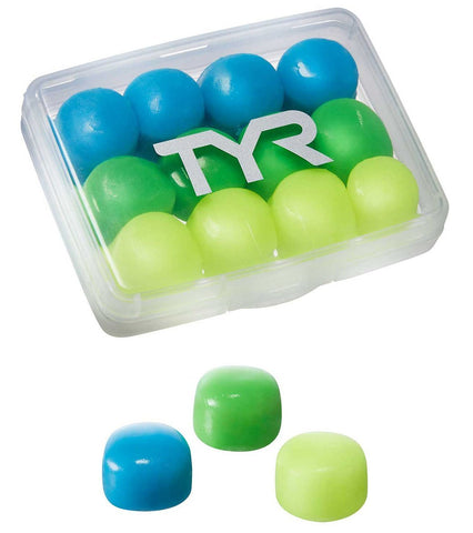 TYR 12 Pack Kids Soft Silicone Ear Plugs