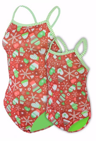 Dolfin Uglies Frosty Mittens V-2 Back Swimsuit
