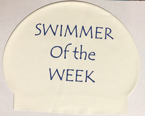 Swimmer of the Week Latex Cap