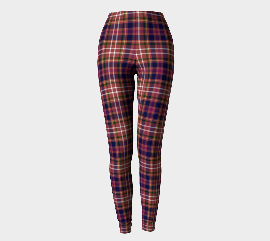 Equine Red Plaid - Women's - Canadian Made Ecopoly Leggings