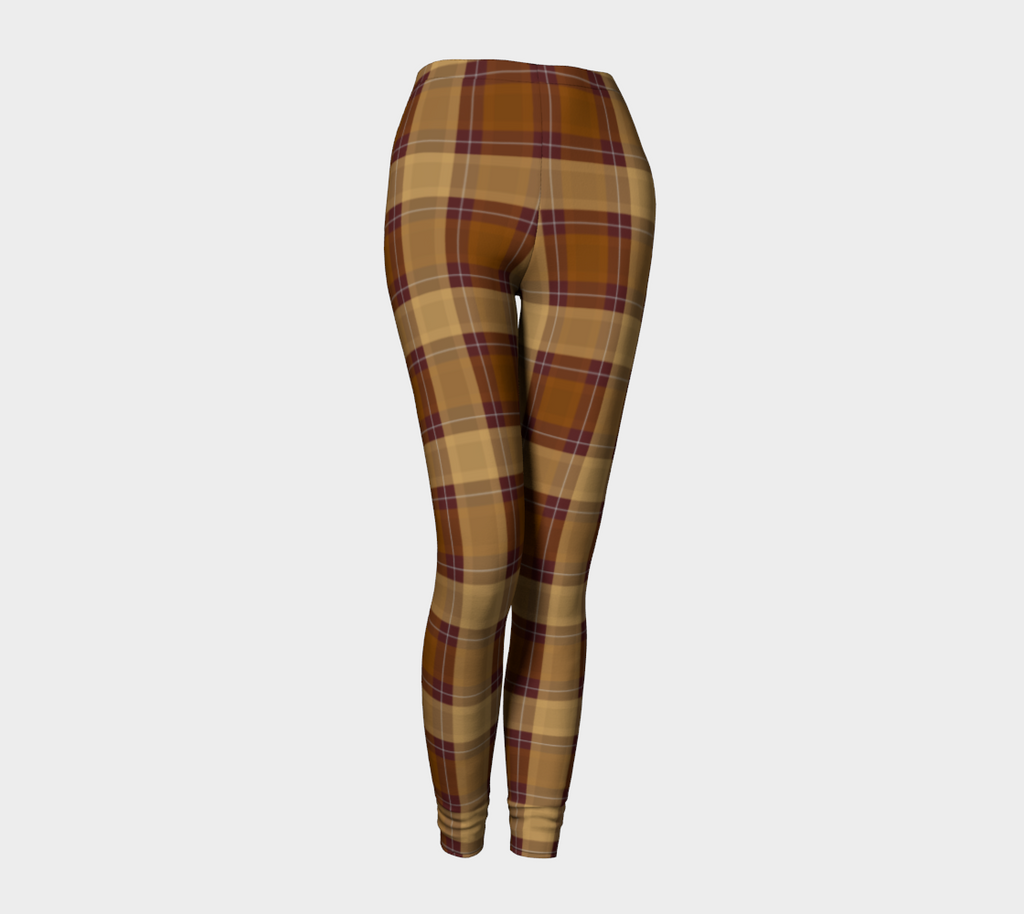 Autumn Memories Plaid - Women's - Canadian Made Leggings