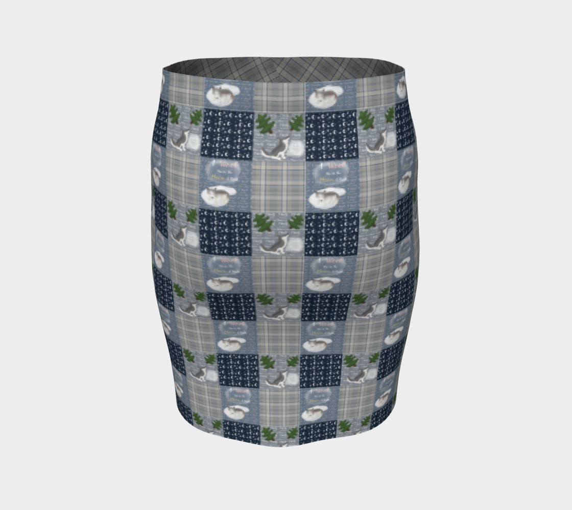 To the Moon & Back - Fitted Skirt