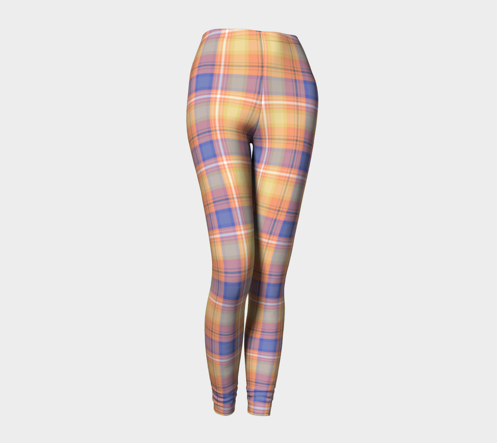 Bumblebee Picnic Plaid - Women's - Canadian Made Ecopoly Leggings