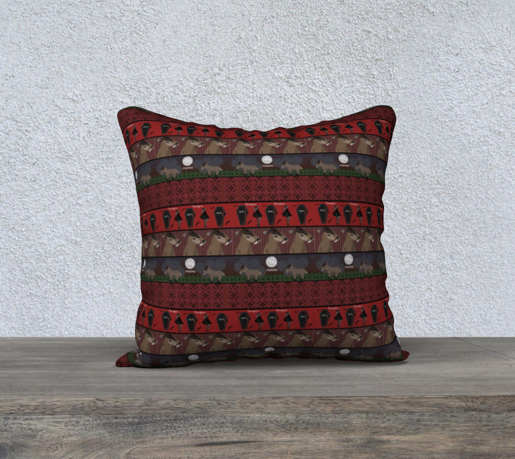 "Fawnpire Pattern - 18"" x 18"" Pillow Case"