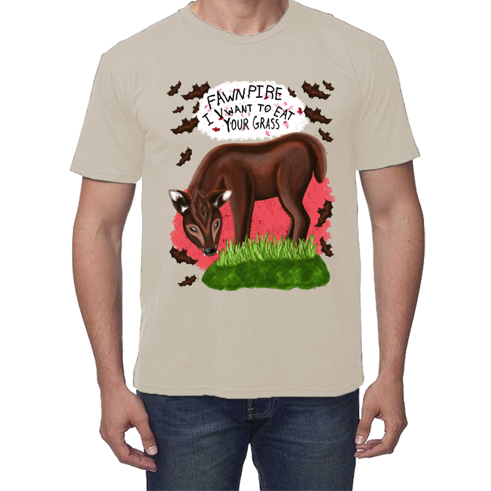 "Fawnpire ""I Vwant your Grass"" - Unisex - USA Made Soft Bamboo T-shirt"