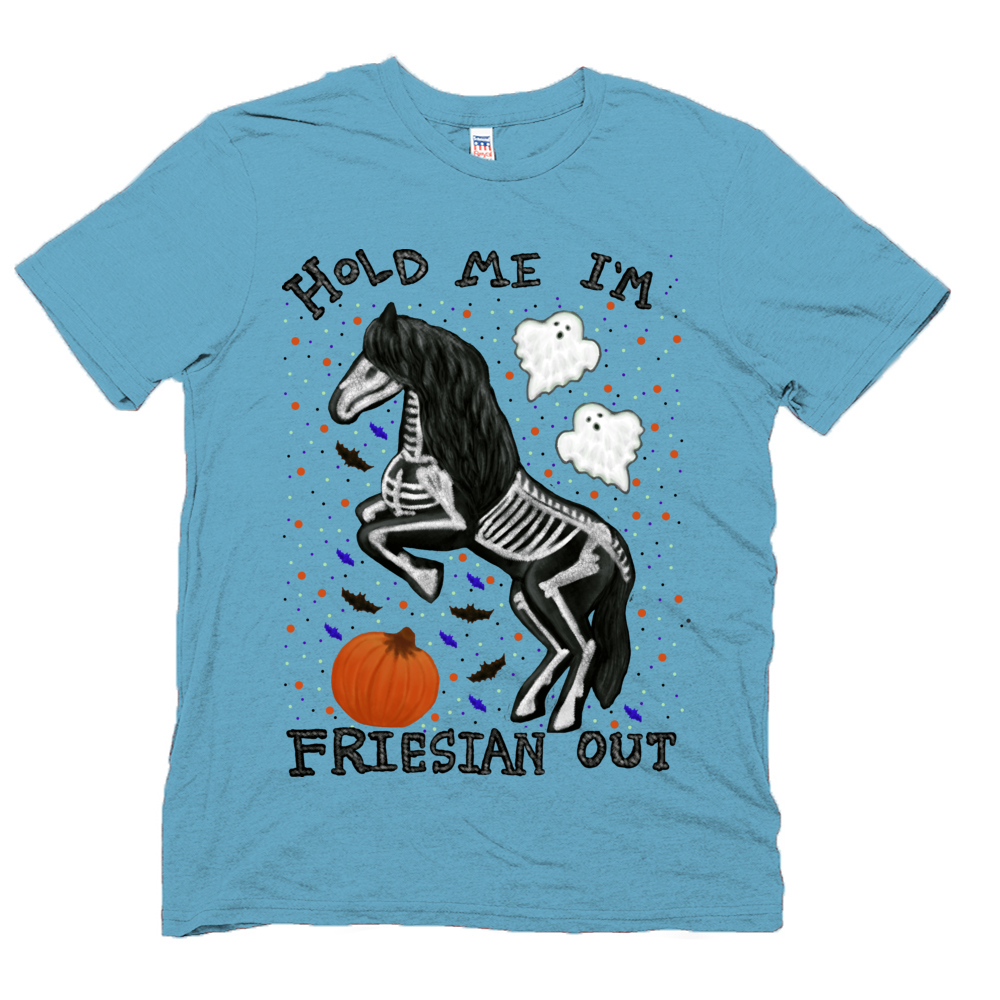 Hold Me I'm Friesian Out - Unisex - USA Made Organic T-shirt