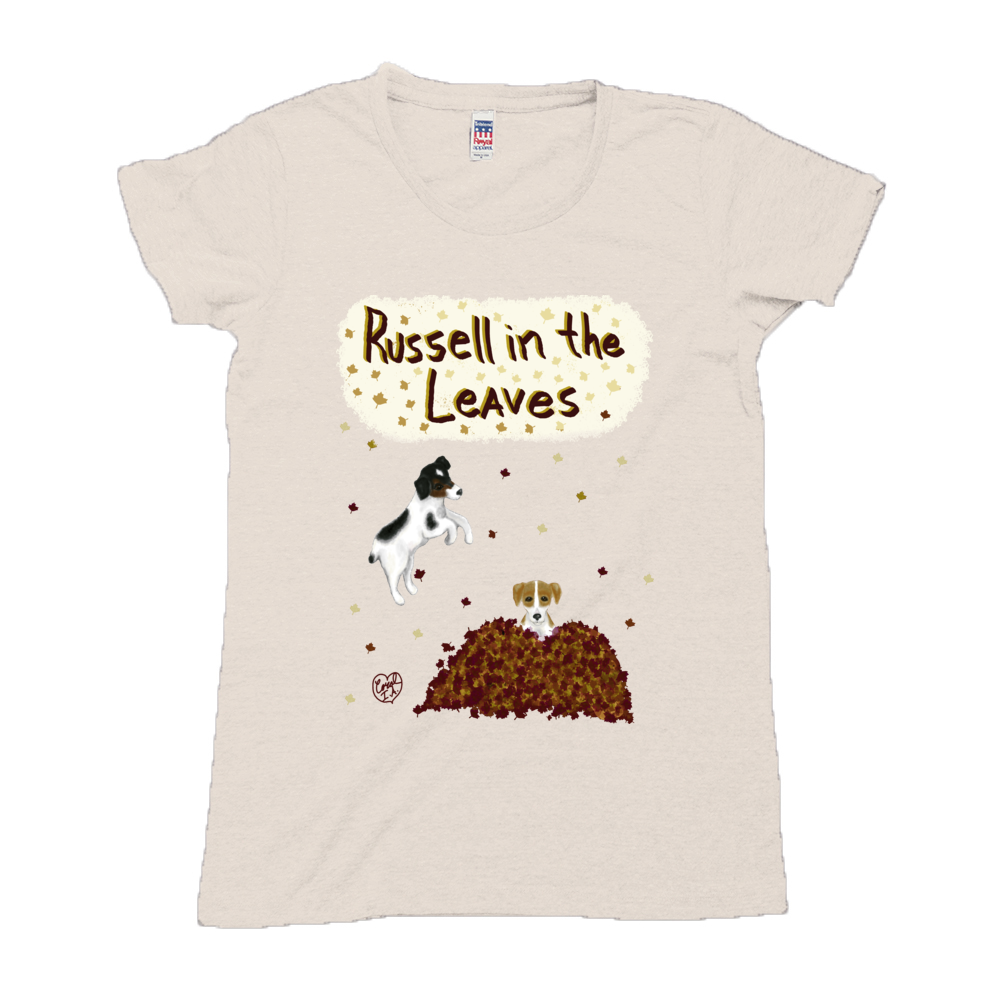 Russell in the Leaves - Women's - USA Made Triblend Crew Neck Tee