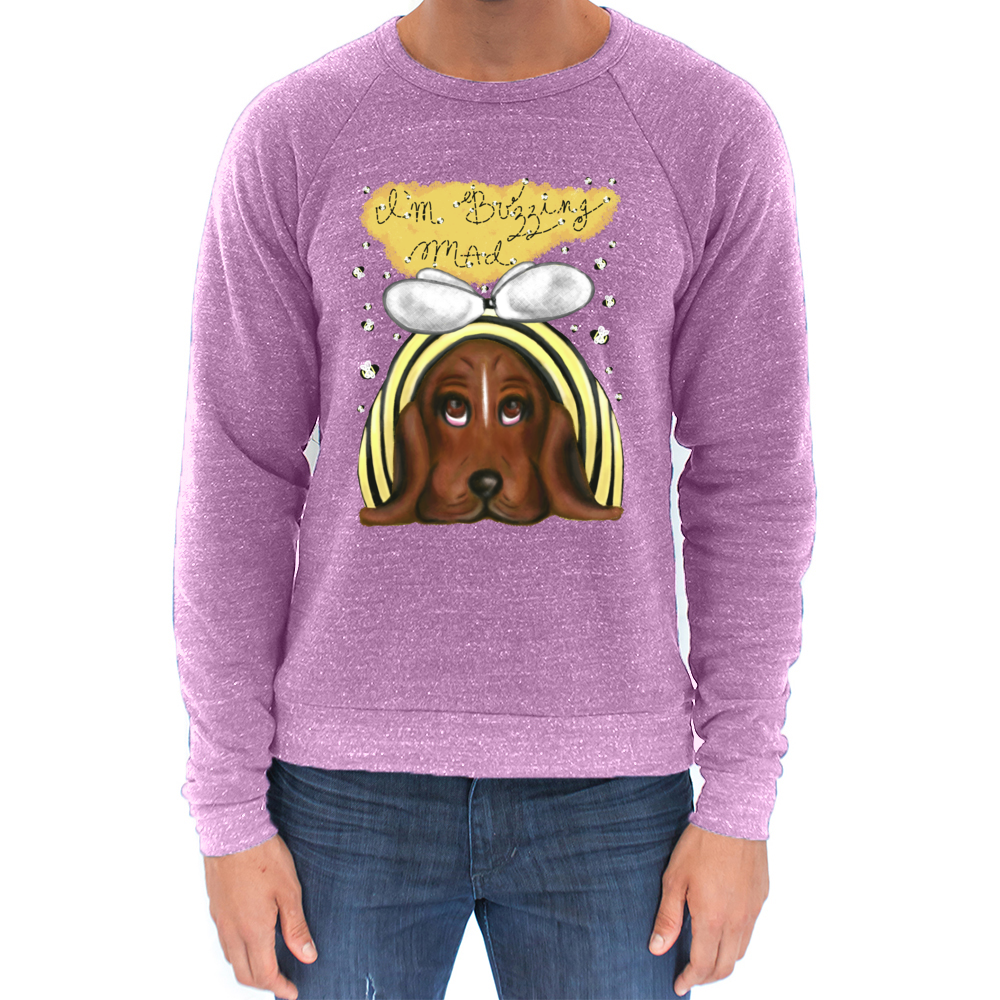 Buzzing Mad - Unisex - USA Made Triblend Sweatshirt