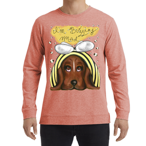 Buzzing Mad - Unisex - Light Terry Crew