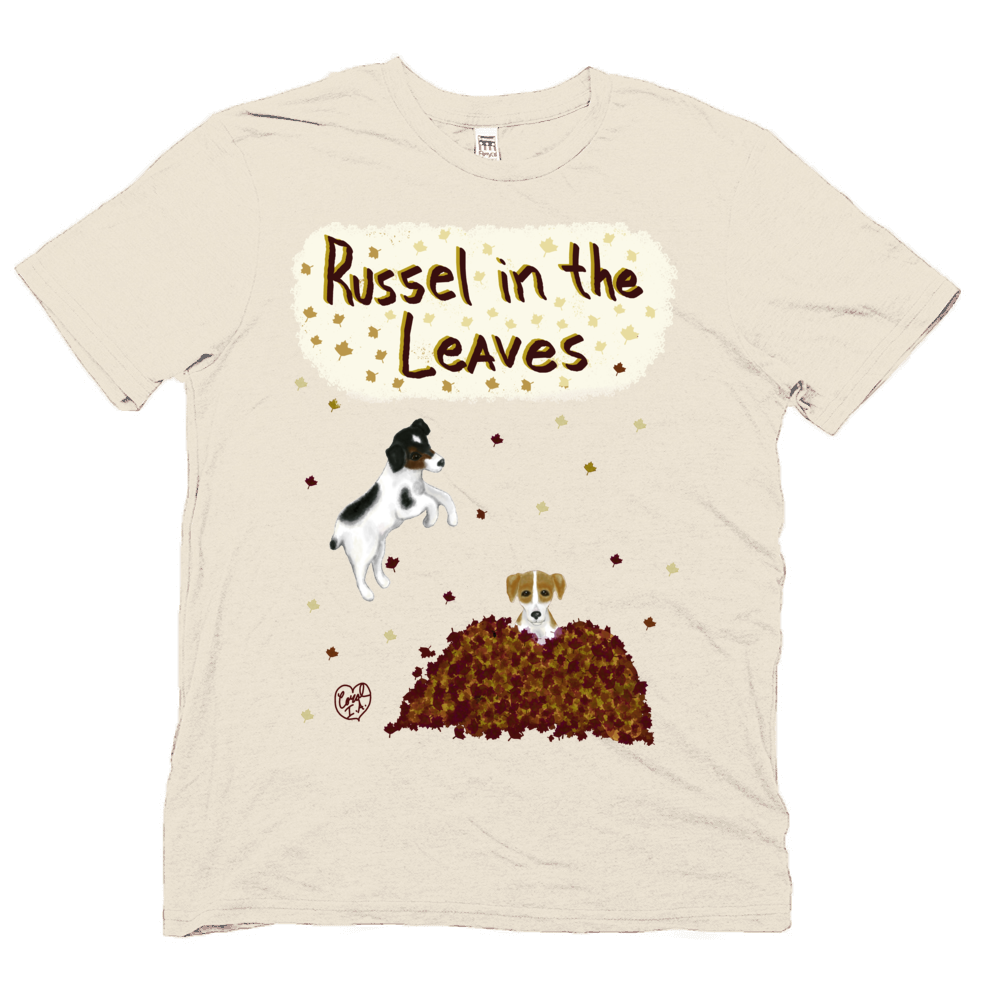 Russell in the Leaves - Unisex - USA Made Soft Organic Shirt