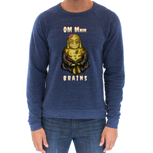 Zombie Buddha - Unisex - USA Made Triblend Sweatshirt