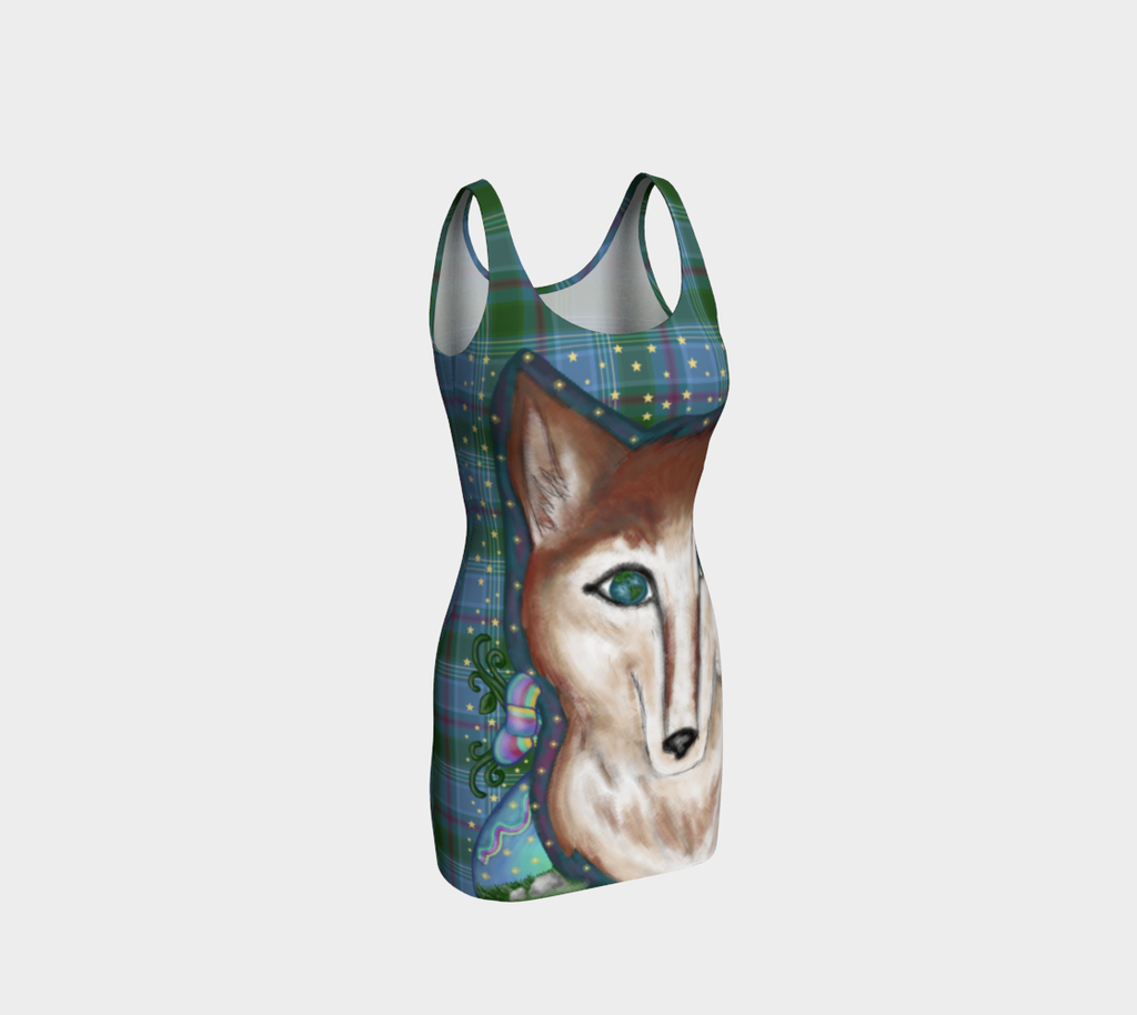 Wolf of the Universe - Bodycon Dress