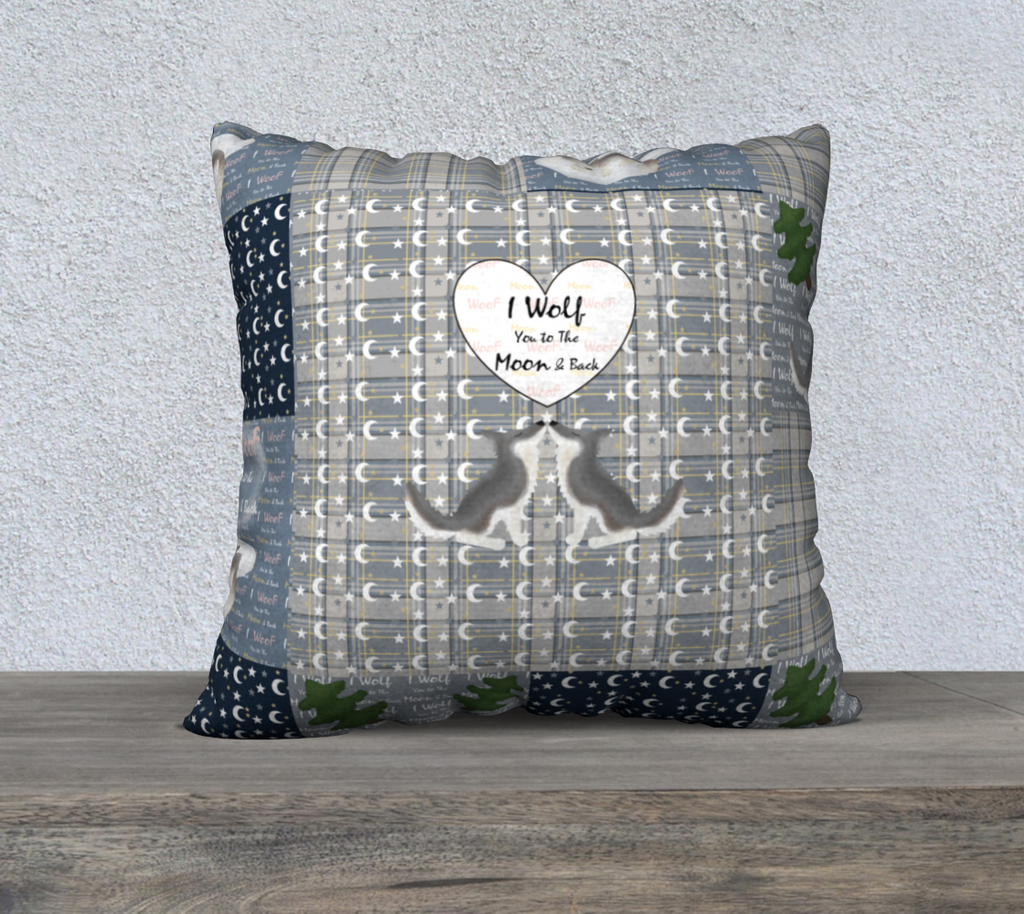 "To the Moon & Back - 22"" x 22"" Pillow Case"
