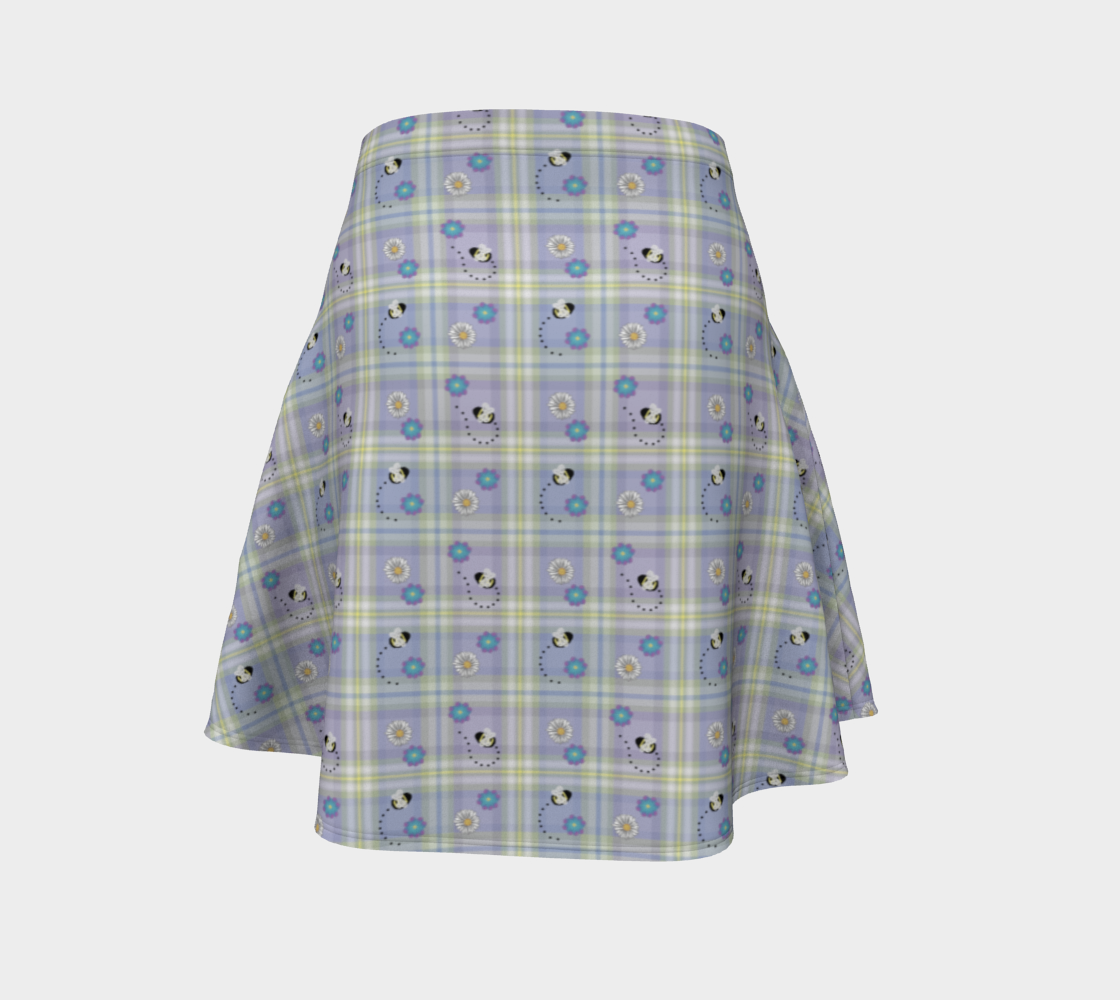 Buzzing Bees Periwinkle - Skirt