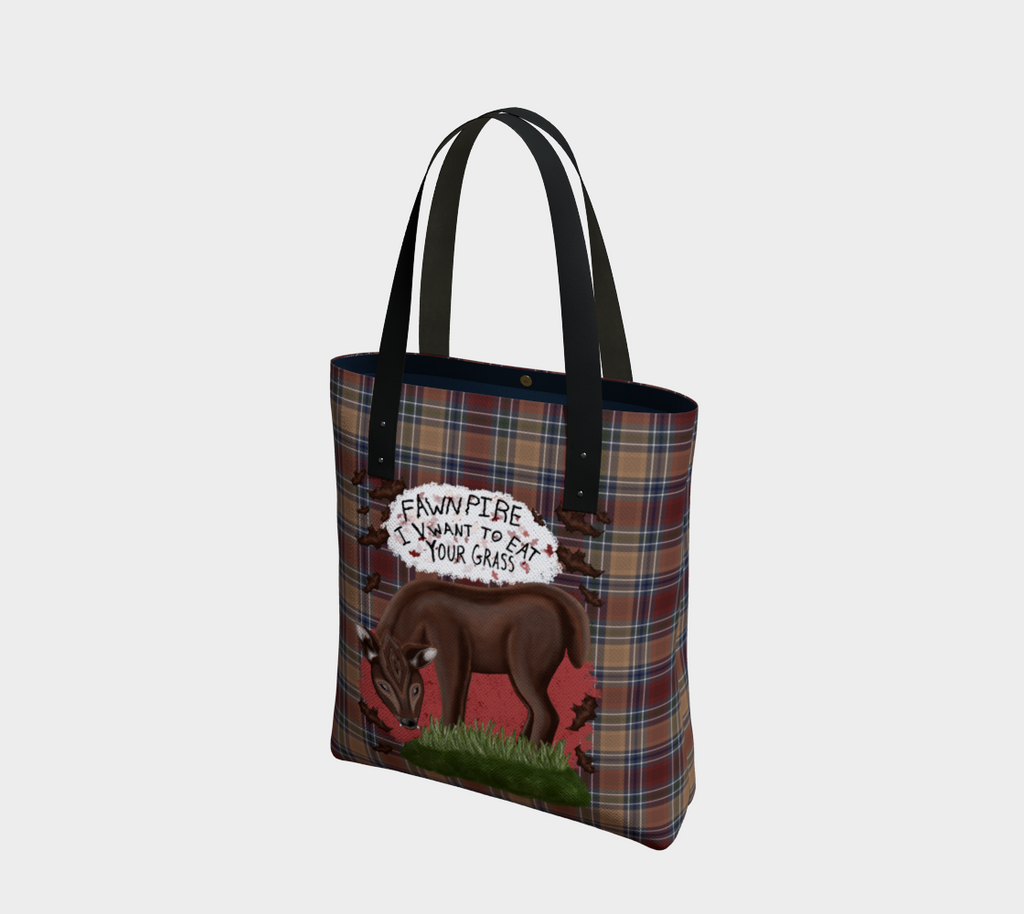 Fawnpire Plaid - Canadian Made Tote Bag