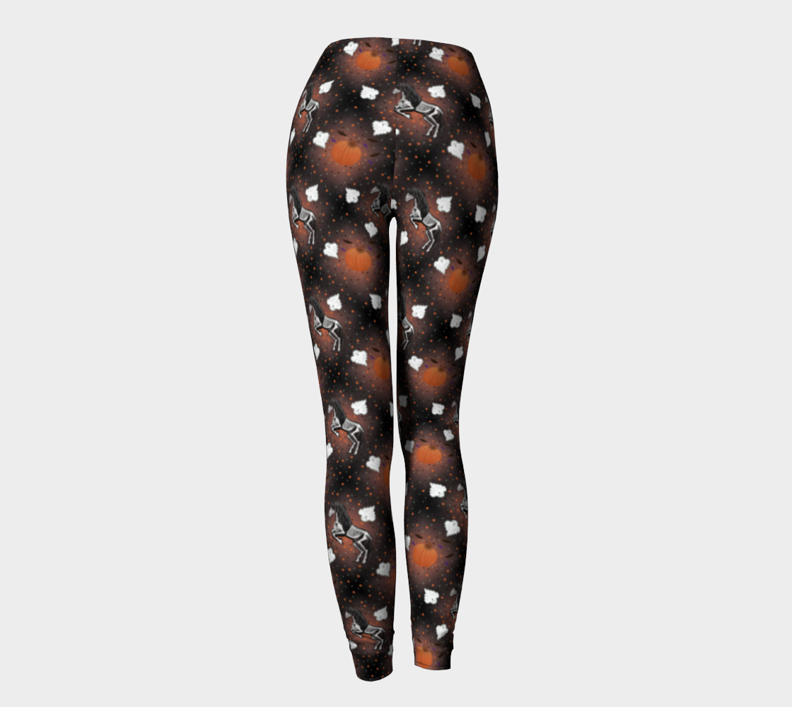 Hold Me I'm Friesian Out - Spooky Black -Ecopoly Canadian Made  Leggings