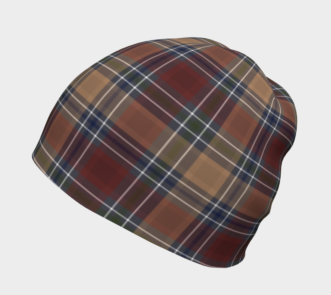 Midnight Mystery Plaid - Soft Canadian Made Beanie