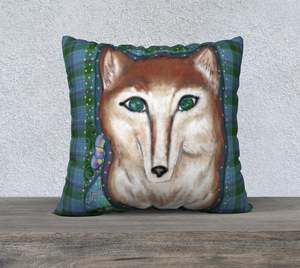 "Wolf of the Universe - 22"" x 22"" Pillow Case"