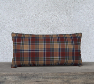 "Midnight Mystery Plaid - Canadian Made 24"" x 12"" Pillow Case"