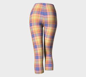 Bumblebee Picnic Plaid - Women's - Canadian Made Ecopoly Capris