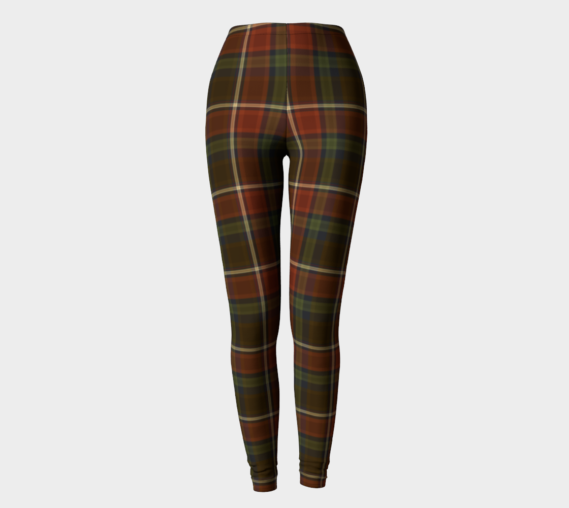 Goodnight Pumpkin Plaid - Women's - Ecopoly Canadian Made Leggings