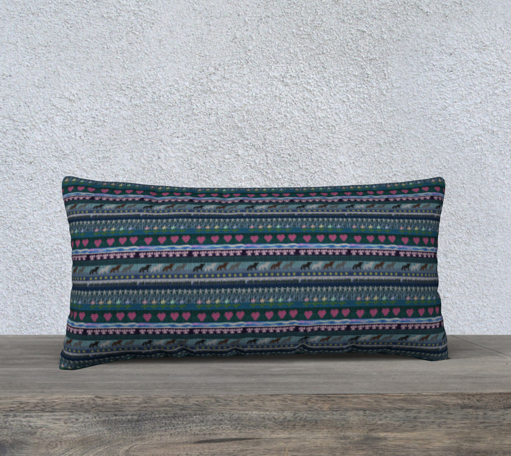 "Native Print - 24"" x 12"" Pillow Case"