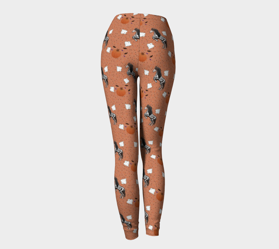 Hold Me I'm Friesian Out - Pumpkin Orange - Ecopoly Canadian Made Leggings