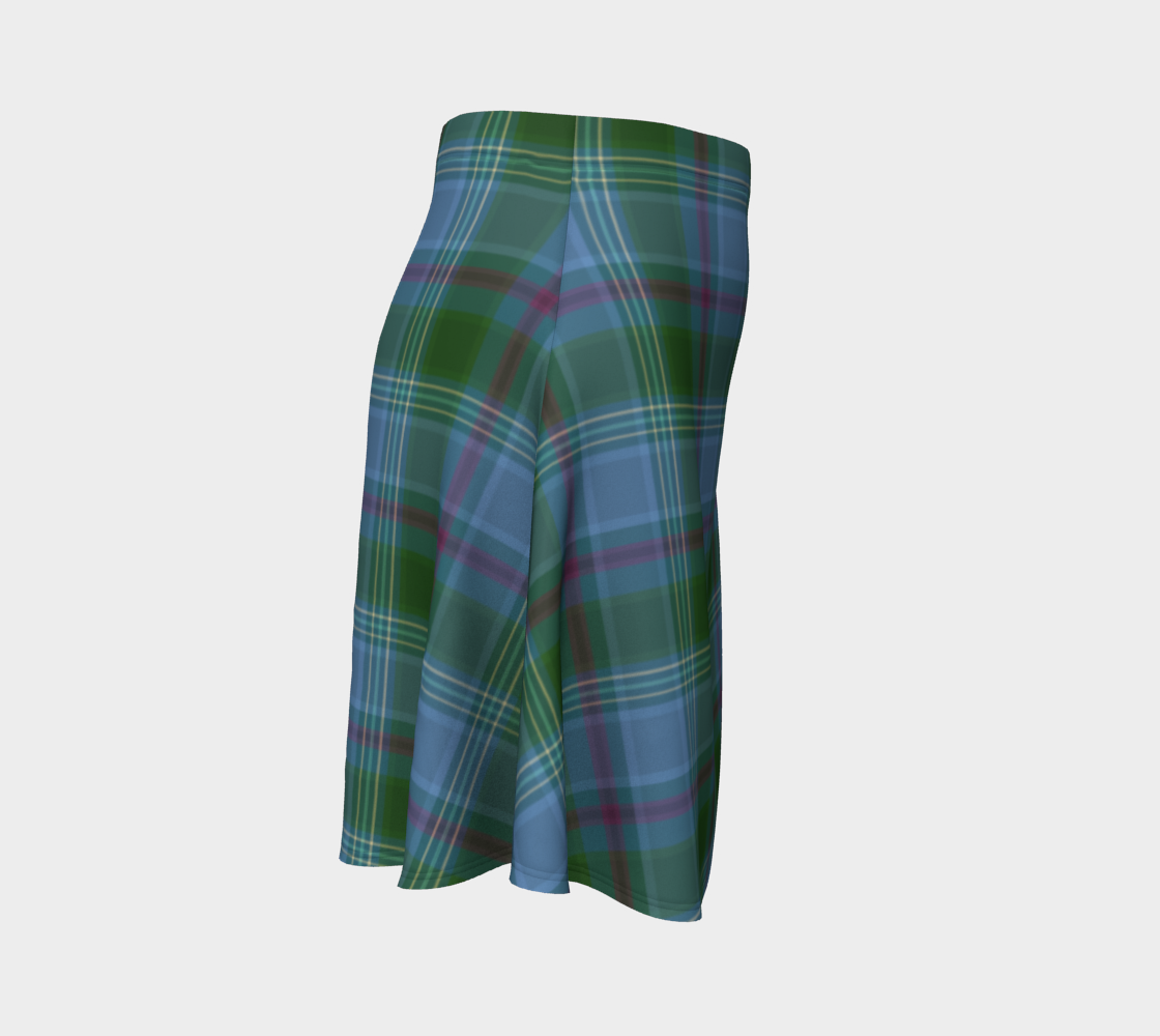 Earth Eyes Plaid - Ecopoly Canadian Made Skirt