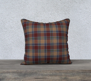 "Midnight Mystery Plaid - 18"" x 18"" Pillow Case"