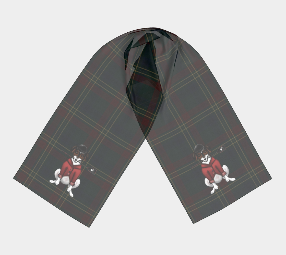 Equestrian Jack Russell - Canadian Made - Long Scarf