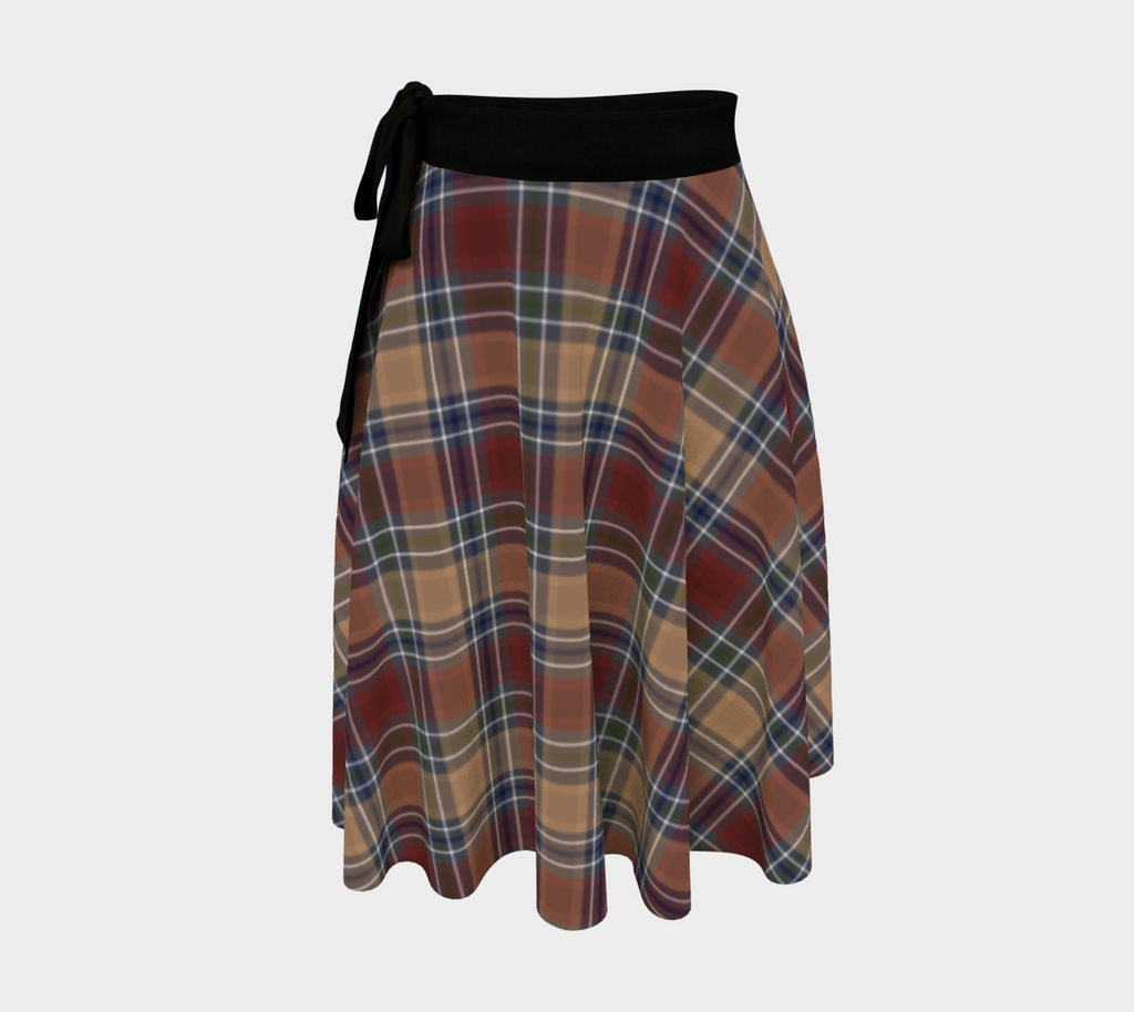 Midnight Mystery Plaid - Canadian Made Wrap Skirt