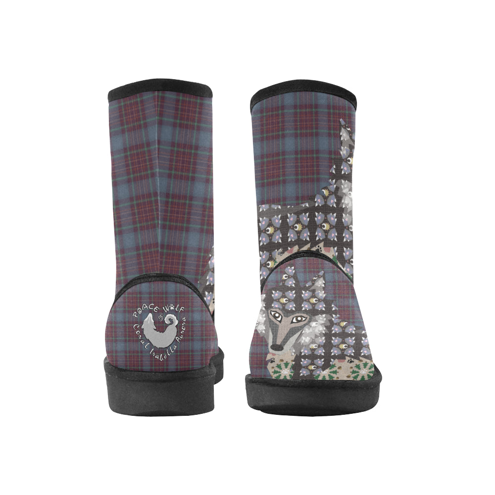 Spiritual Wolf - Custom High Top Unisex Snow Boots (Model 047)