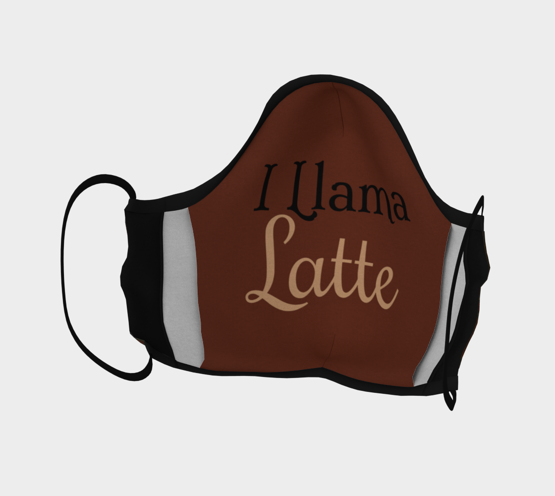 I Llama Latte - Canadian Made - Face Covering