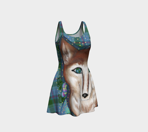 Wolf of the Universe - Flare Dress