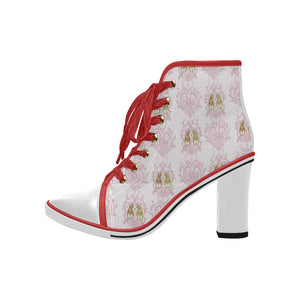 Butt I Love You - Women's - Lace Up Canvas Chunky Heels