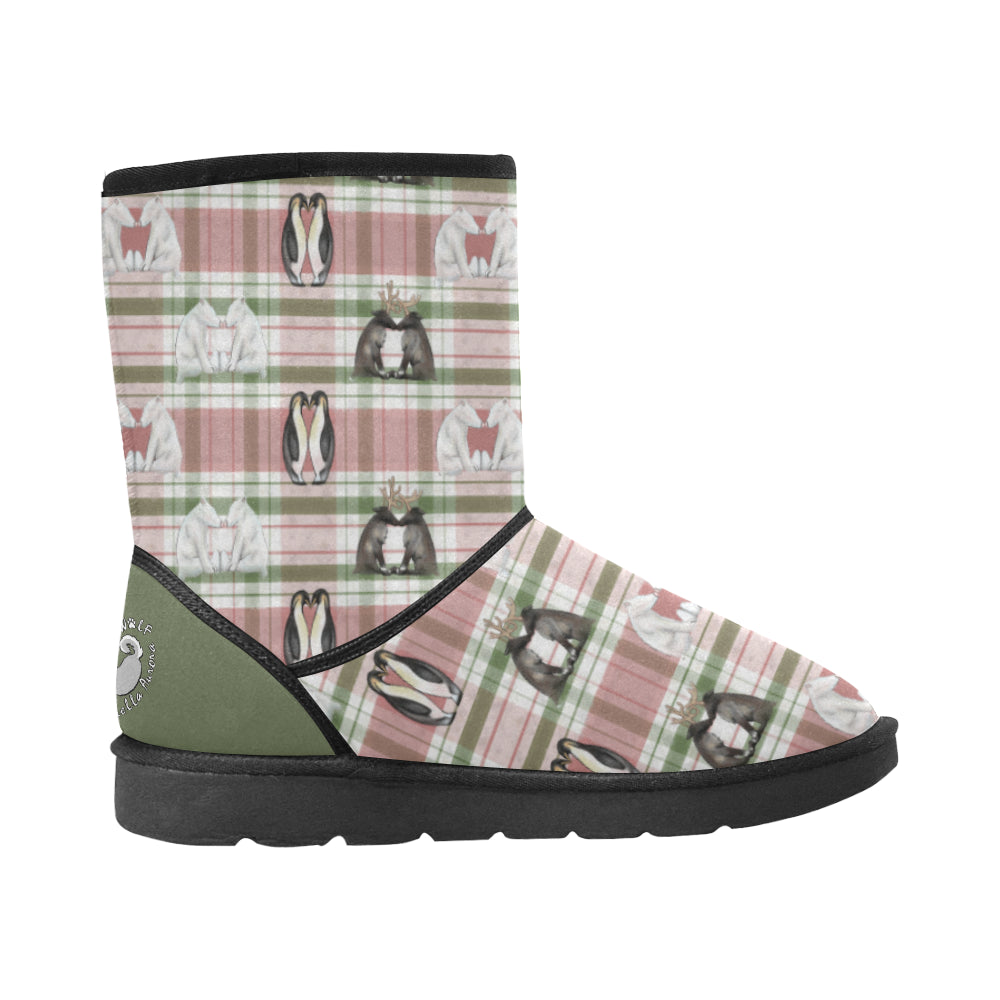 Mistletoe Kisses - Unisex - High Top Winter Boots