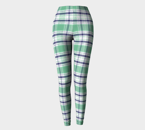 Polar Bear Paw Plaid - Leggings