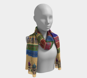 Flowers Fjord You - Women's - Luxurious Canadian Made Long Scarf