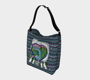 White Wolf of Mother Earth Tote