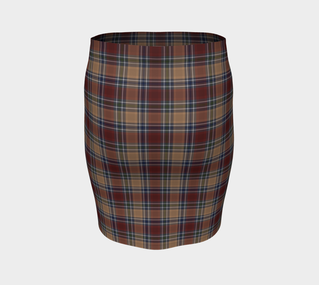 Midnight Mystery Plaid - Ecopoly Canadian Made Fitted Skirt