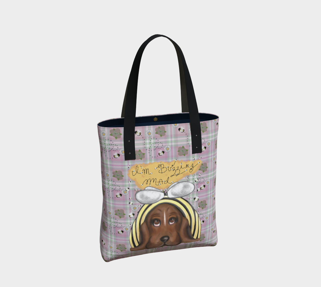 I'm Buzzing Mad - Pink - Tote Bag